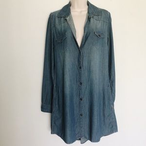 Dresses & Skirts - Oversized Chambray Dress with Pockets